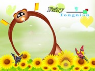 Cartoon butterfly photo frame picture download