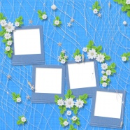 Cartoon cute photo frame material download