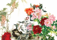 Chinese painting Peony pictures