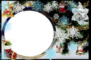 Christmas photo frame picture material download
