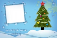 Christmas tree photo frame picture
