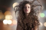 Curly hair beauty picture material download