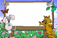 Cute cartoon photo frame picture
