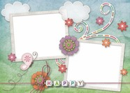 Cute pattern photo frame picture download