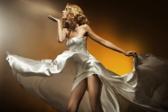 Dress elegant, European and American girls pictures