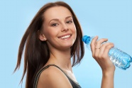 Drink mineral water, hair beauty picture
