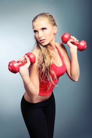 Dumbbell fitness girls pictures