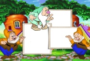 Dwarfs cartoon photo frame picture
