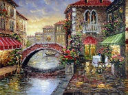 European and American villages painting beautiful pictures
