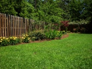 Fenced lawn in high definition pictures