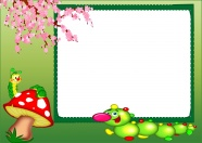 Green fresh photo frame picture