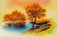 Landscape painting autumn pictures