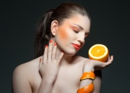 Orange creative photo model pictures