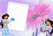 Princess background photo frame picture download