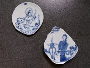 Qing dynasty blue and white porcelain picture download