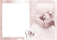Romantic hand bouquet photo frame picture