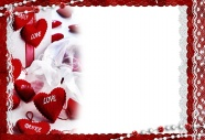 Romantic heart photo frame picture download
