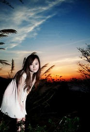 Sunset beautiful picture material download