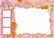 Sweet cute photo frame picture