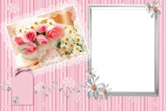 Sweet rose photo frame picture material