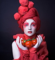 Tomato beauty picture material