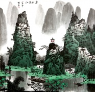 Traditional Chinese painting scenery picture material download