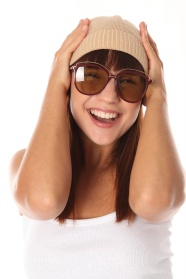 With dark glasses happy girls pictures download