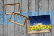 Wood shades photo frame picture
