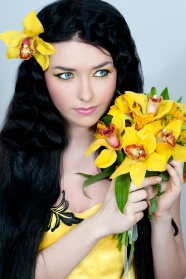 Yellow flower girls pictures