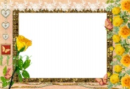 Yellow roses sweet photo frame picture