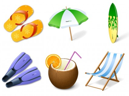 Vacation Icons icons pack