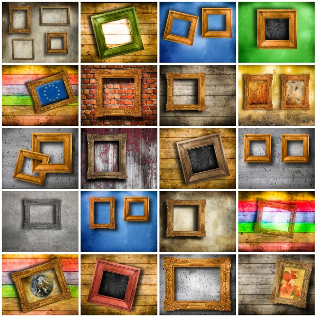 Vintage picture frame material greatly entire