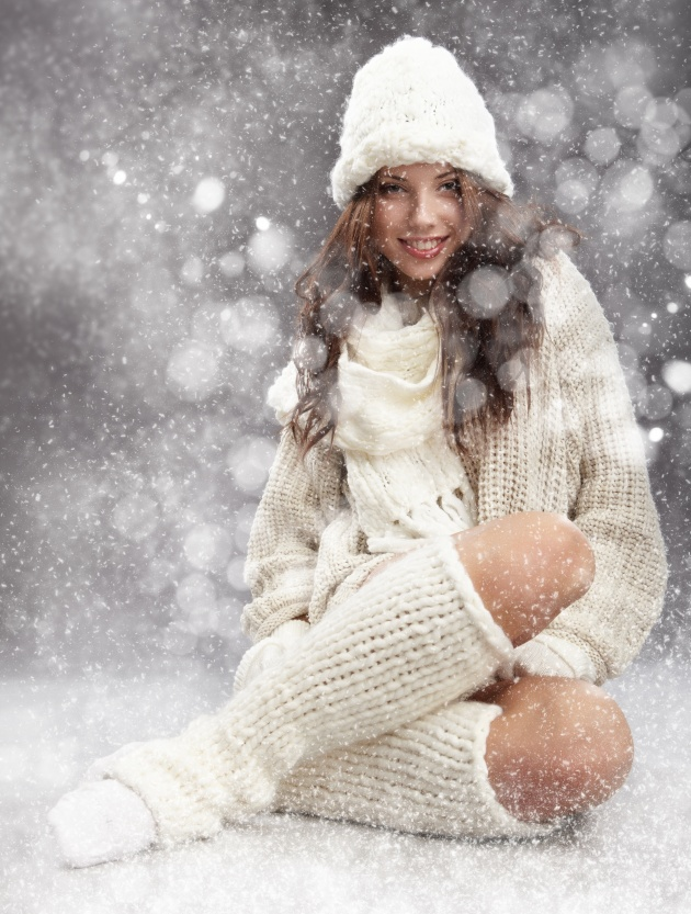 Winter temperament girls pictures HD download