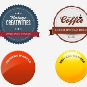Coffee elements labels psd