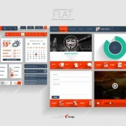 Flat Application psd template