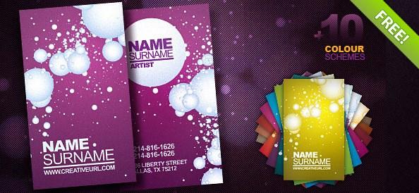 Artist Business Card PSD