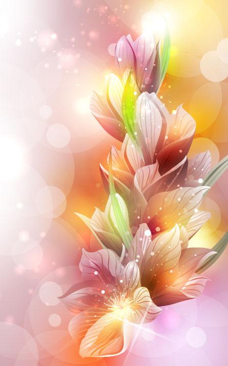 Brilliant Petal background vector 03