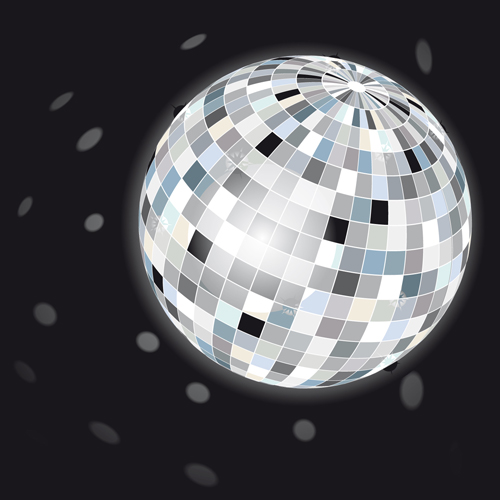 Set of Disco Ball theme background vector 02