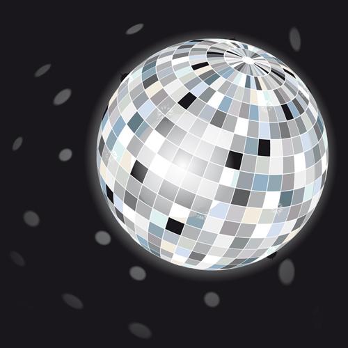 Set of Disco Ball theme background vector 02