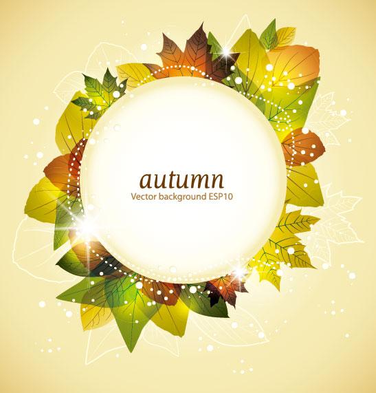 autumn elements vector background set 01