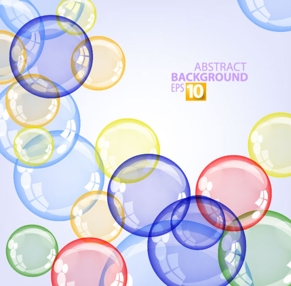 Abstract background with Colored bubbles vector graphic 02