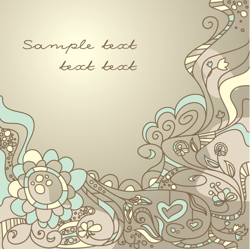 Elements of Light Floral vector Background 02
