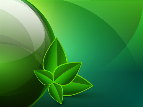 Green eco elements Background vector 05