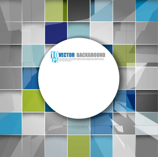 square background vector set 04