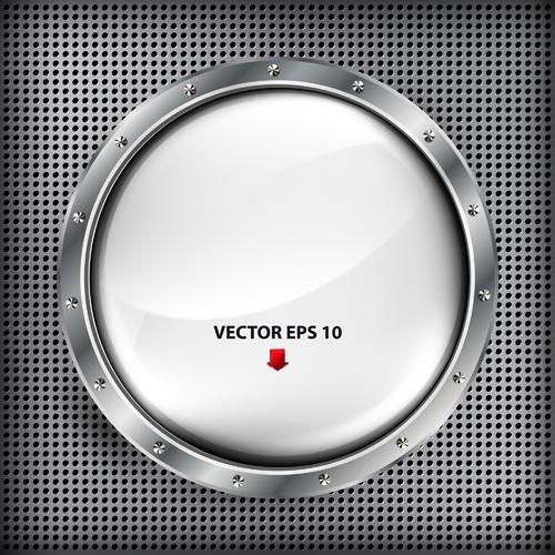 Steel porthole elements vector background 04