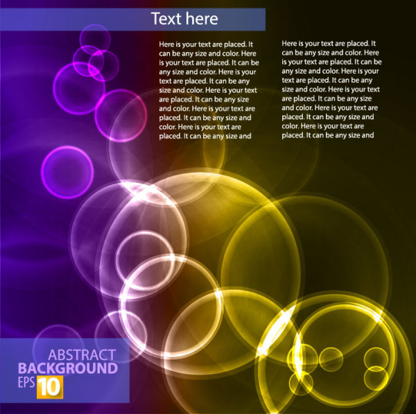Abstract background with Colored bubbles vector graphic 04