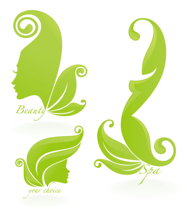 Beauty Silhouettes elements background vector 05