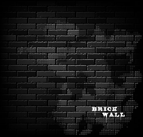Elements of Brick wall background vector 04