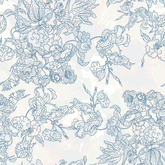 line of draft Flower background vector 02