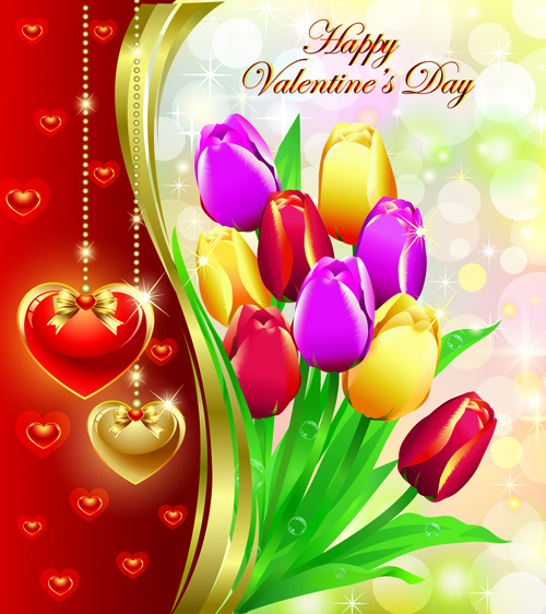 Romantic Valentine Day Theme background vector 04